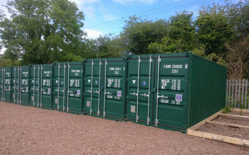 Dunbar Storage Solutions row of containers